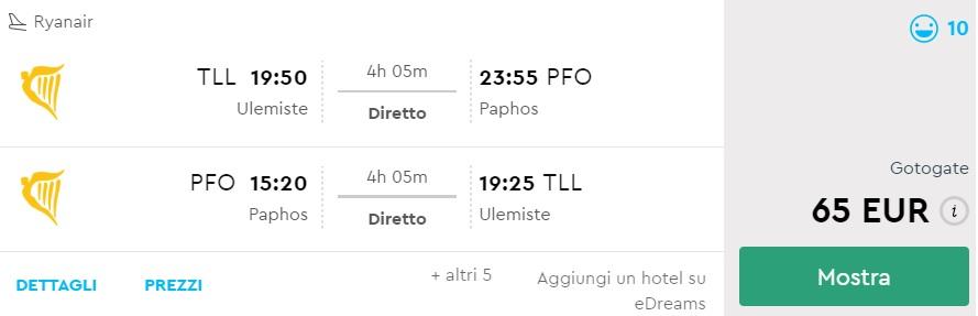 cheap flights to cyprus from tallinn estonia