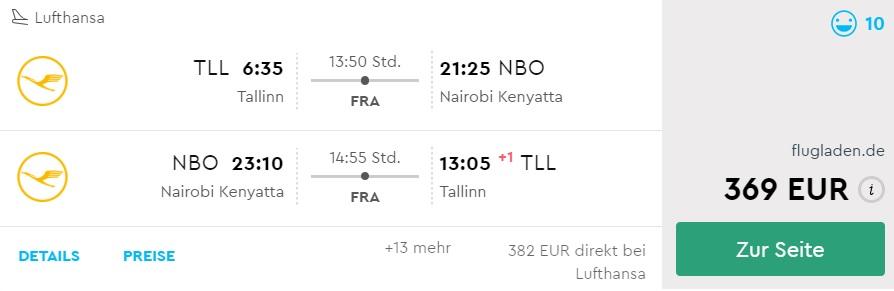 cheap flights to kenya from tallinn