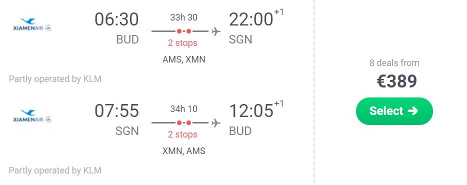 cheap flights to vietnam ho chi minh city from budapest hungary