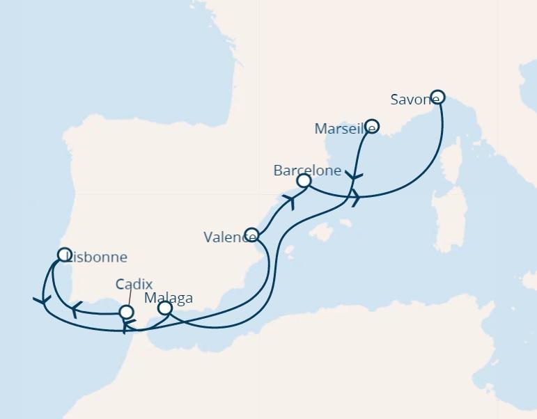 full board costa cruise from marseille farnce to savona italy
