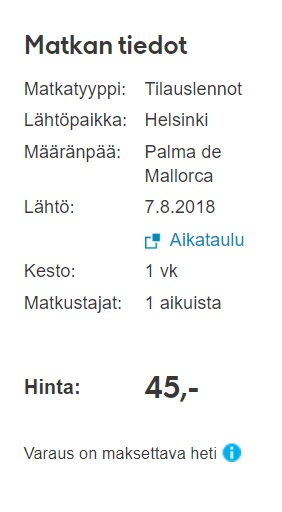 summer cheap flights to palma mallorca from helsinki