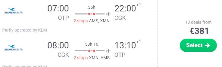 Cheap flights from Bucharest to INDONESIA Jakarta
