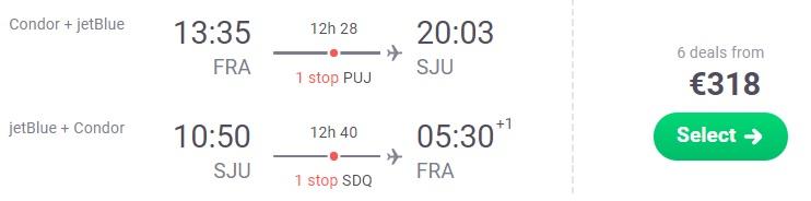 Cheap flights to PUERTO RICO from Frankfurt Germany
