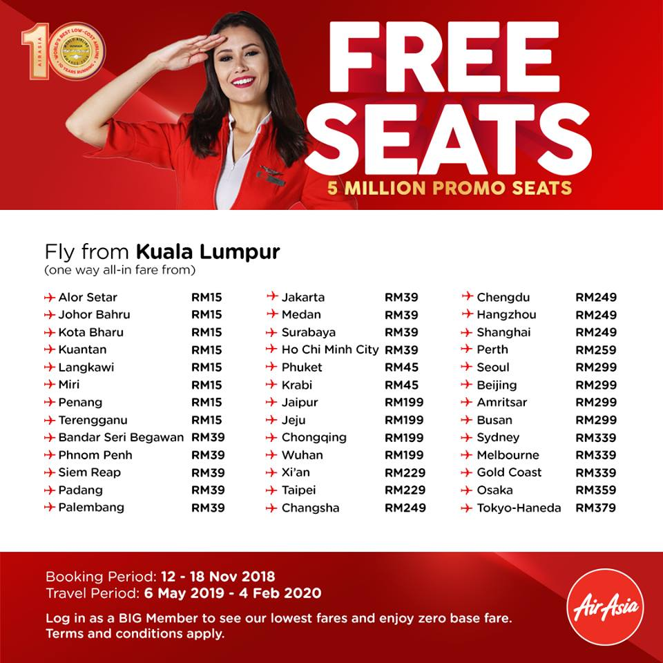 airasia promo code 2019