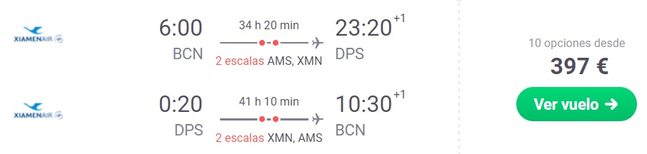 cheap flights barcelona spain bali indonesia