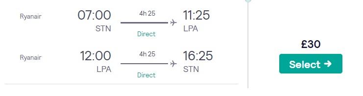cheap flights london gran canaria