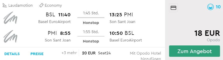 cheap flights to palma mallorca from basel