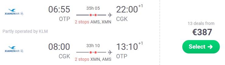 Cheap flights from Bucharest to Jakarta INDONESIA