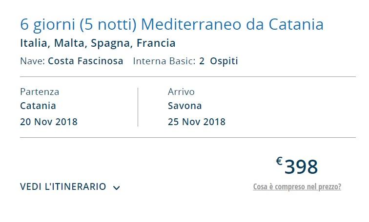 Full Board cruise from Catania Italy