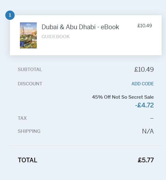 Lonely Planet Book OFFER