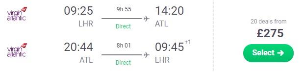 cheap flights london atlanta