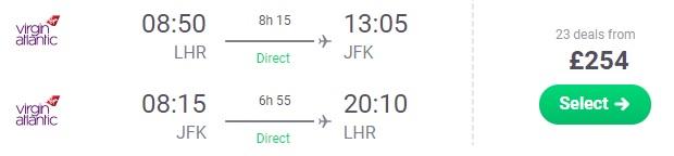 cheap flights london new york