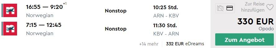 cheap flights stockholm krabi