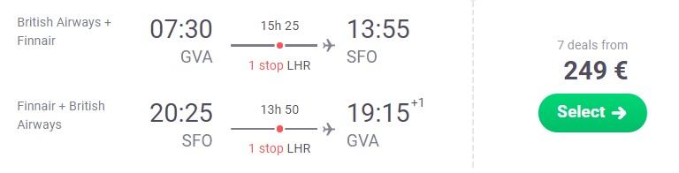 Cheap flights from Geneva to SAN FRANCISCO
