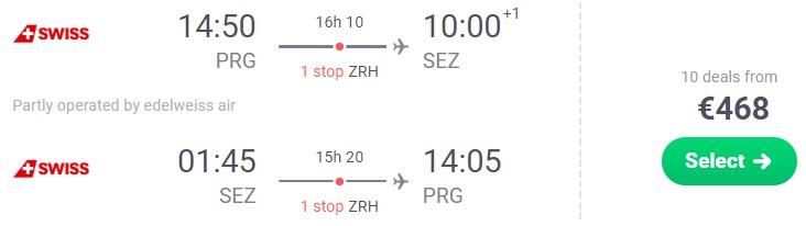 Cheap flights from Prague to SEYCHELLES