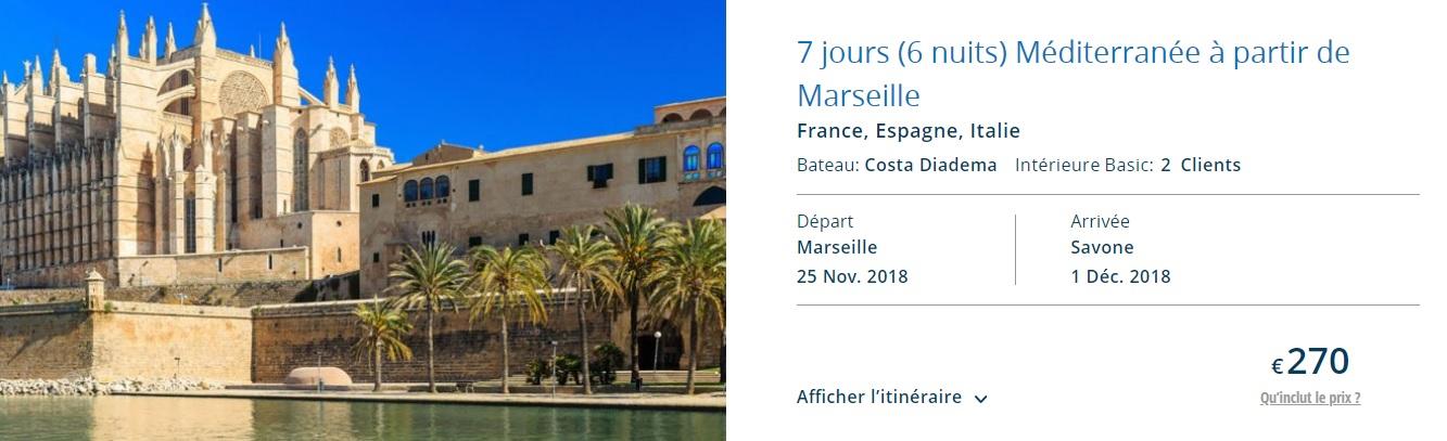 Full Board cruise from Marseille around Mediterranean sea