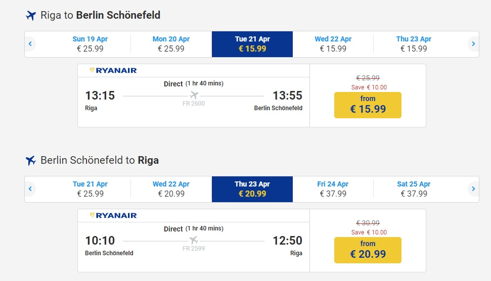 Ryanair Black Friday SALE 2019