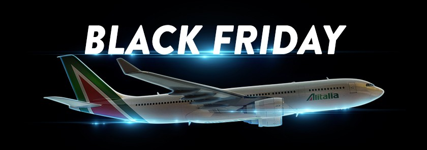 alitalia black friday sale 2018 flights up to 25 off travelfree. Black Bedroom Furniture Sets. Home Design Ideas