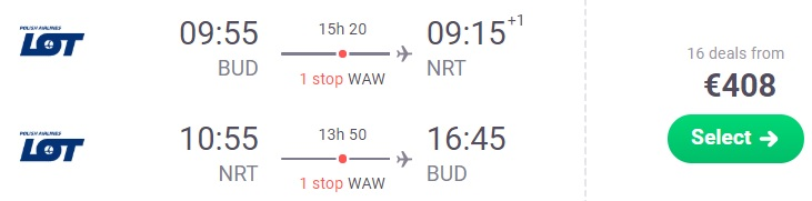 cheap Flights from Budapest to Japan Tokyo