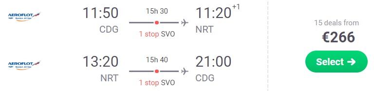 cheap flights paris japan tokyo