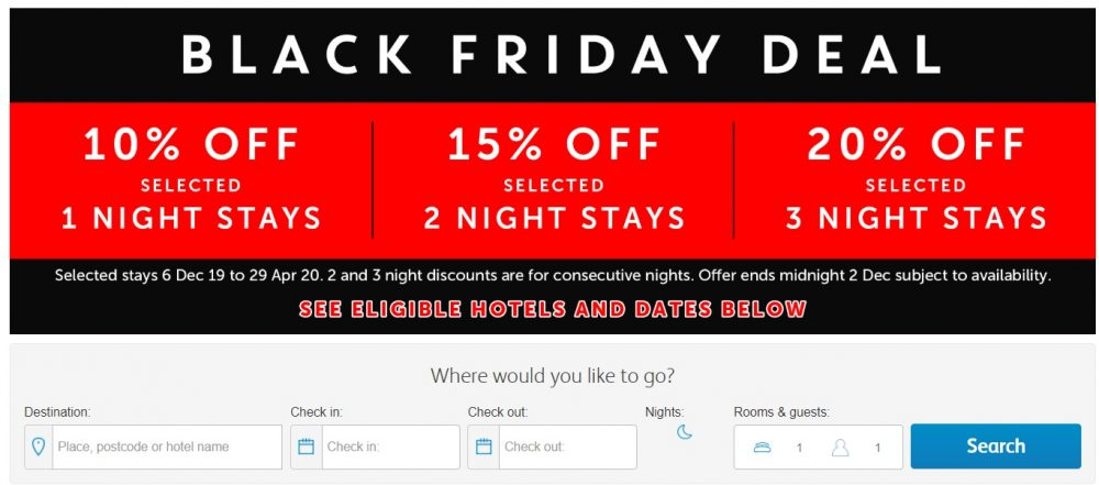 travelodge black friday sale 2019
