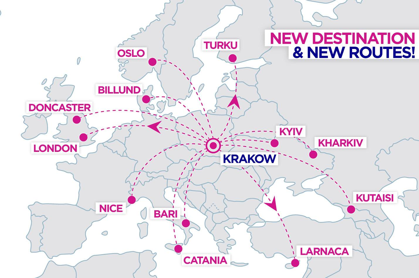 Wizz Air Announces A New Base In Krakow 12 New Routes Travelfree