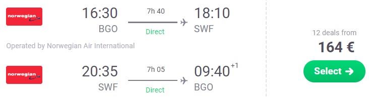Cheap flights Bergen Norway NEW YORK