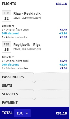 Cheap tickets to ICELAND from Latvia