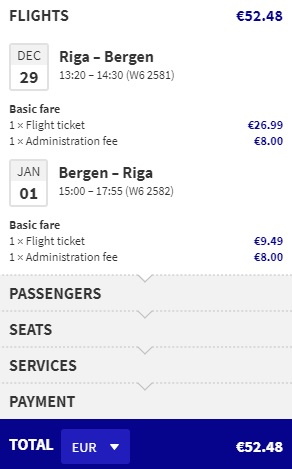 NEW YEAR Cheap flights from Riga to BERGEN