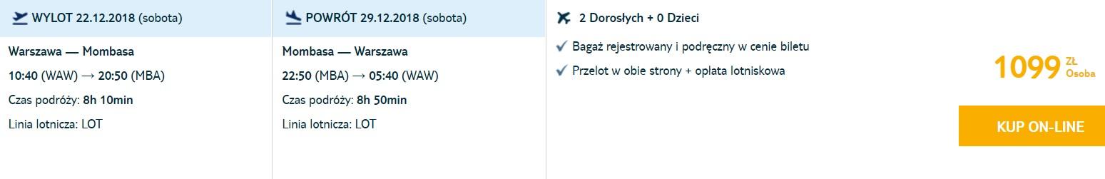 XMAS Cheap flights from Warsaw to KENYA