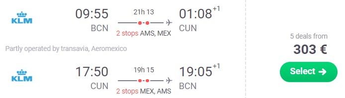 barcelona cancun