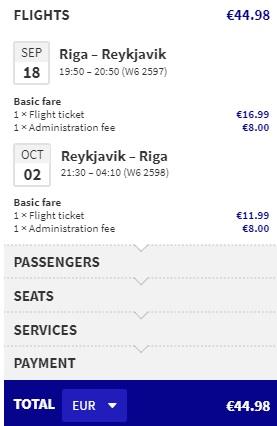 cheap flights riga iceland