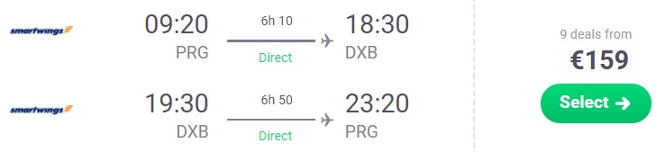 last minute flights prague dubai