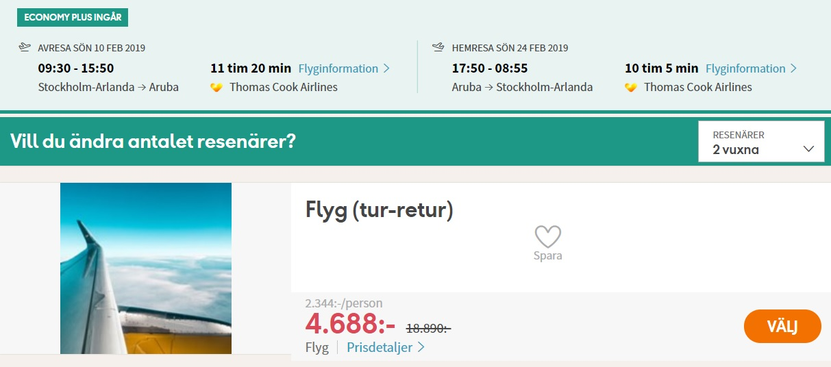 CHEAP Flights from Stockholm, Sweden to ARUBA
