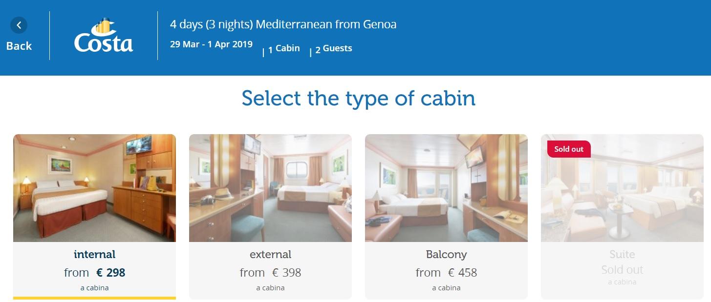 Full Board cruise from Italy to Valencia Spain