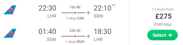cheap Flights from London to VIETNAM ho chi minh city