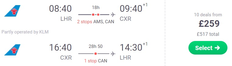 cheap Flights from London to VIETNAM