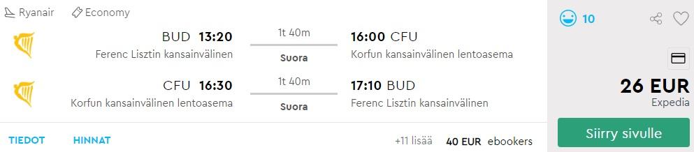 cheap flights budapest corfu