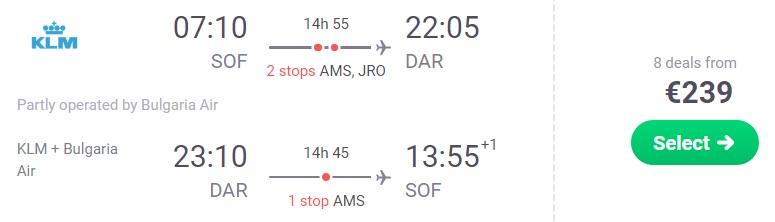 Cheap flights from Sofia to TANZANIA