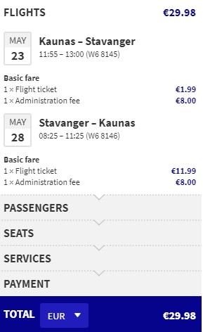 Cheap flights to STAVANGER from Kaunas, Lithuania