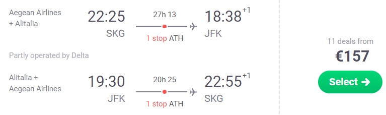 ERROR FARE Flights to New york from Thessaloniki