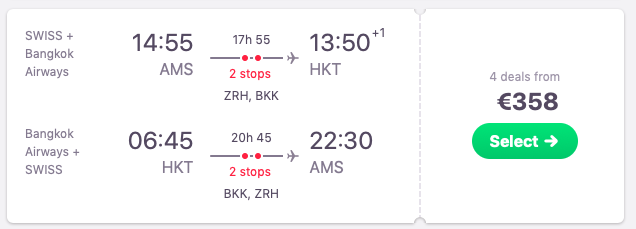 Flights from Amsterdam to Phuket, Thailand