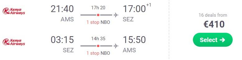 cheap flights amsterdam seychelles
