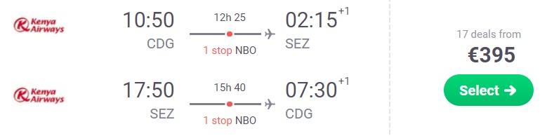cheap flights paris seychelles