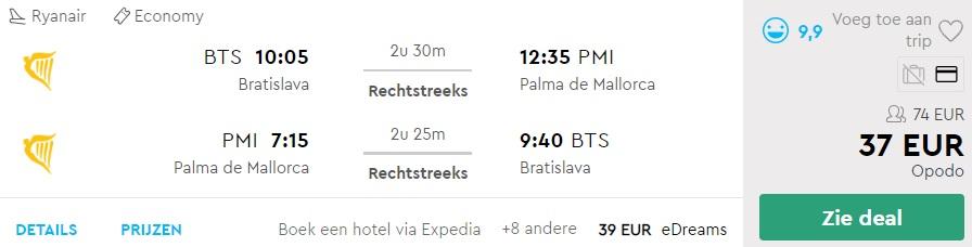 cheap flights to mallorca from bratislava