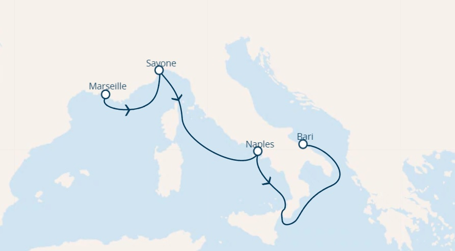 full board cruise from marseille to bari