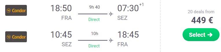 non stop flights frankfurt seychelles