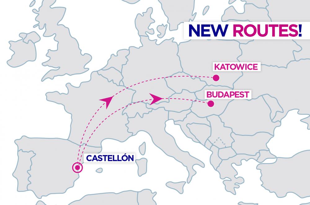 wizzair new routes spain