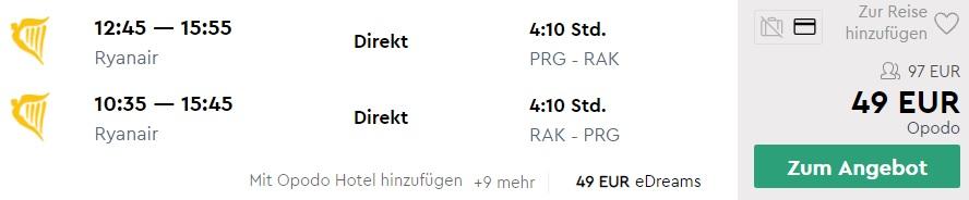Cheap flights from Prague Czechia to MOROCCO