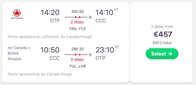 Flights from Bucharest, Romania to Cayo Coco, Cuba